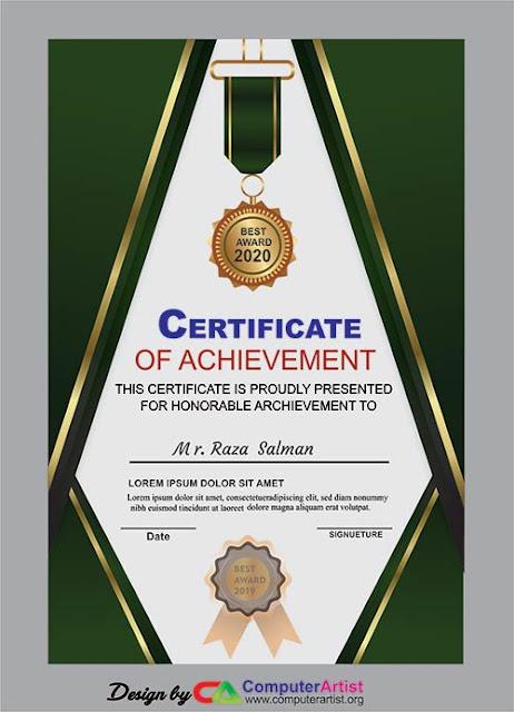 Certificate design cdr