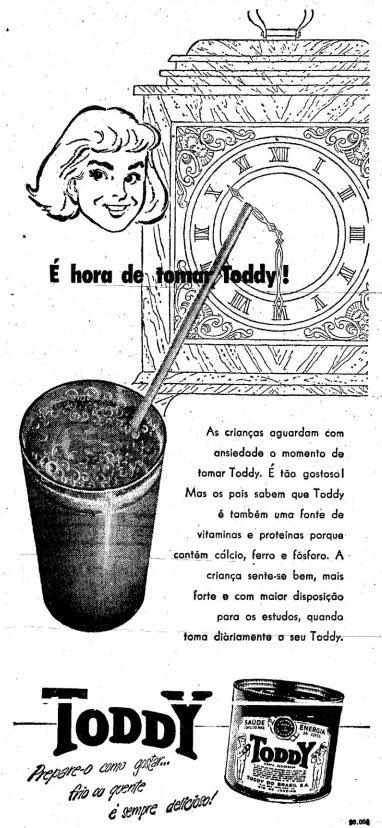 Propaganda antiga do Toddy apresentada nos anos 50
