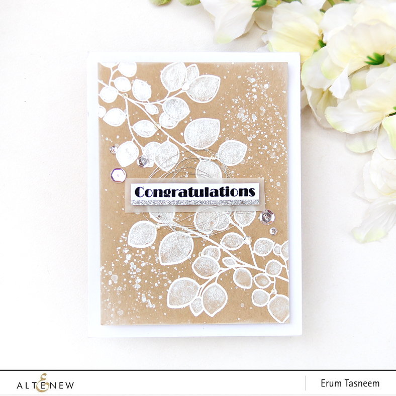 Altenew Leaf Canopy Stamp Set | Watercolored | Erum Tasneem | @pr0digy0