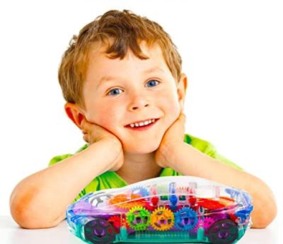 Toyshine Concept Musical and 3D Lights Kids Transparent Car for Curiosity & Brain Development of Kid