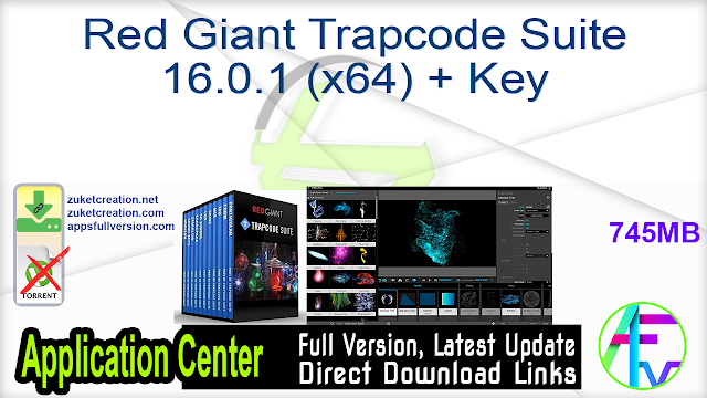 Red Giant Trapcode Suite 16.0.1 (x64) + Key