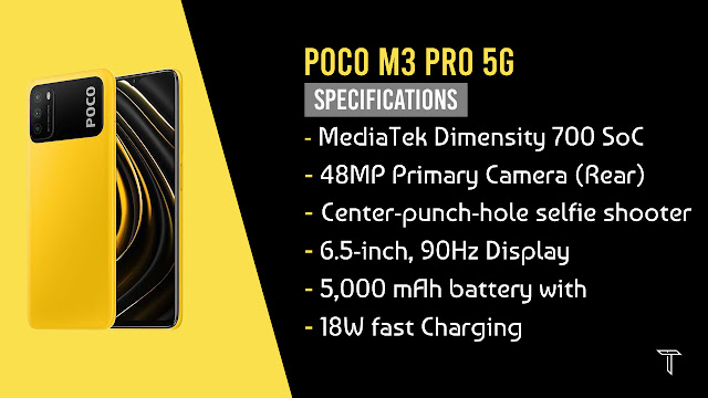 POCO M3 Pro 5G Specifications Poster