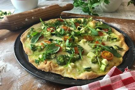 Pizza verde con MyCook Touch receta fácil