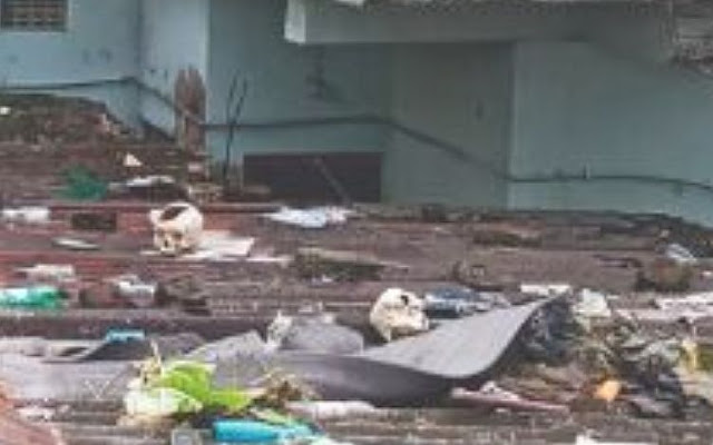 Human skulls & bones recovered from a house in Siliguri