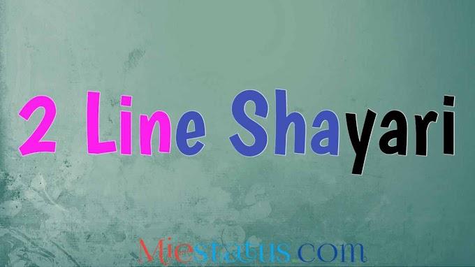 Shayari 2 Lines Love in Hindi - बेस्ट 2 लाइन लव शायरी हिंदी