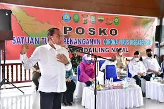 Gubernur Edy Kecewa Satgas Penanganan Covid-19 Madina Kurang Maksimal