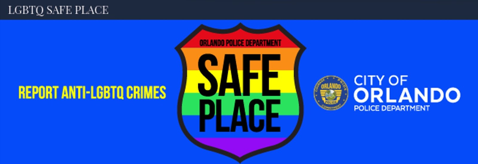 orlando s safe place initiative solace locations for lgbtqp makes me wonder if a program that begins via self designation will turn into government imposition along which will come legal fines and or certain