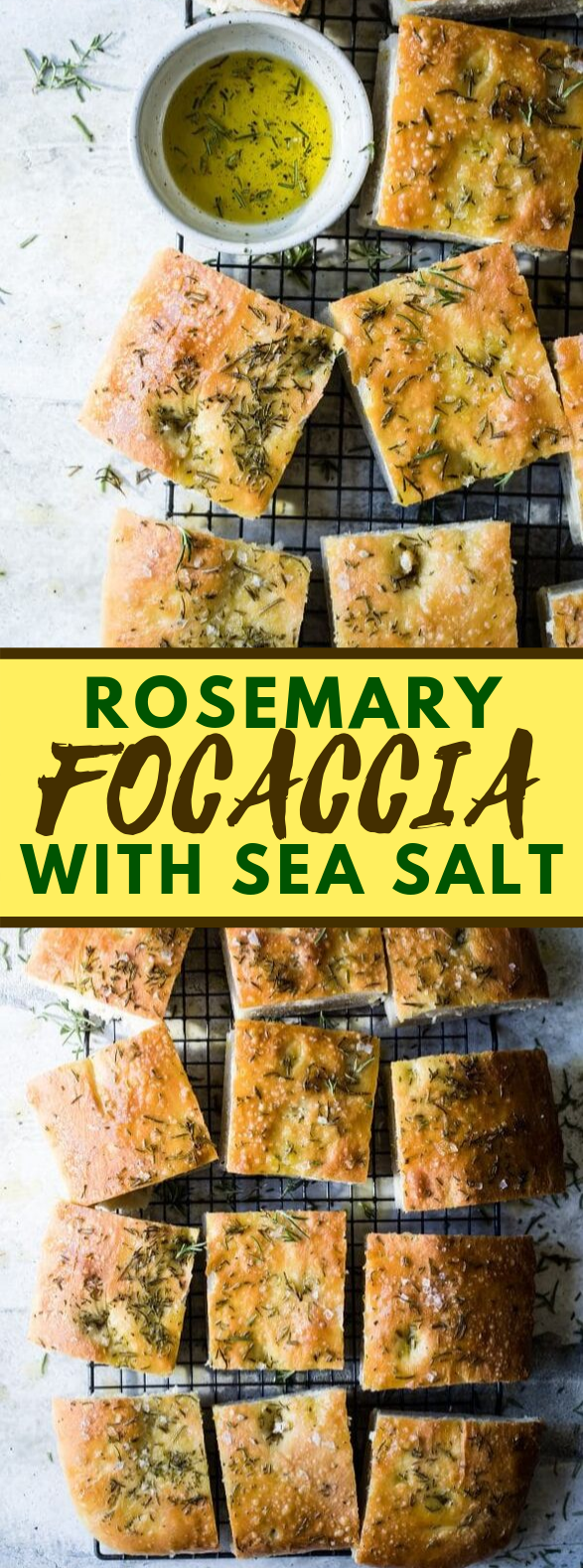 THE BEST ROSEMARY FOCACCIA BREAD #dinner #appetizers
