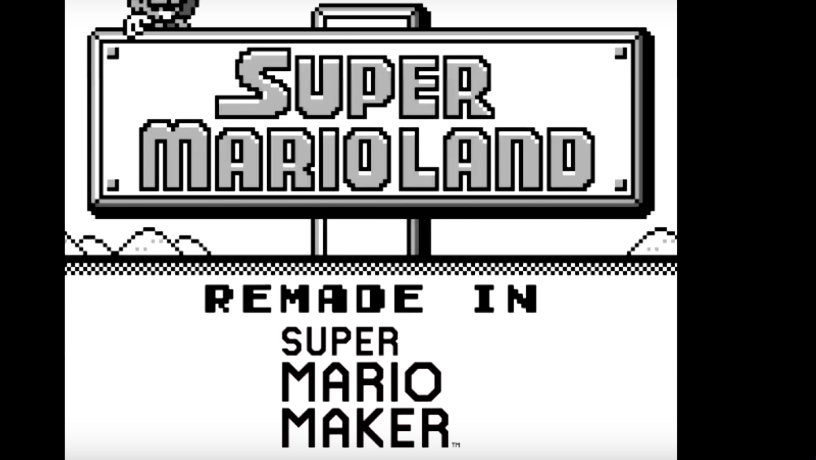 Super Mario Land es recreado con Super Mario Maker