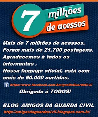 Blog Amigos da Guarda Civil atinge a marca de 7 milhões de acessos