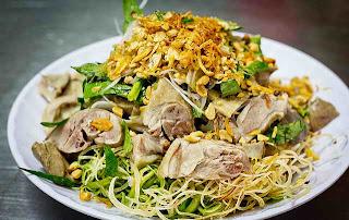 Món ăn ngon: cháo gỏi vịt