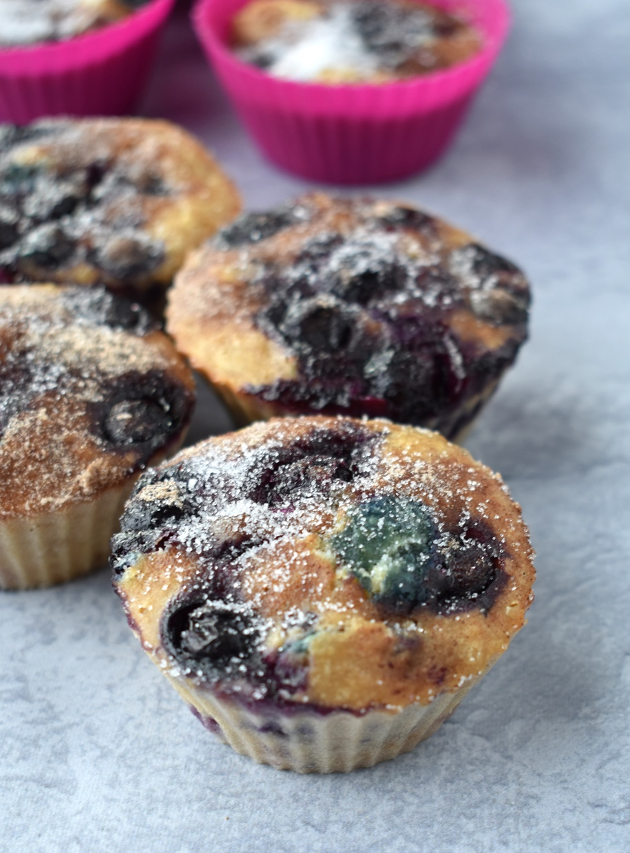 Healthy Greek Yogurt Blueberry Muffins