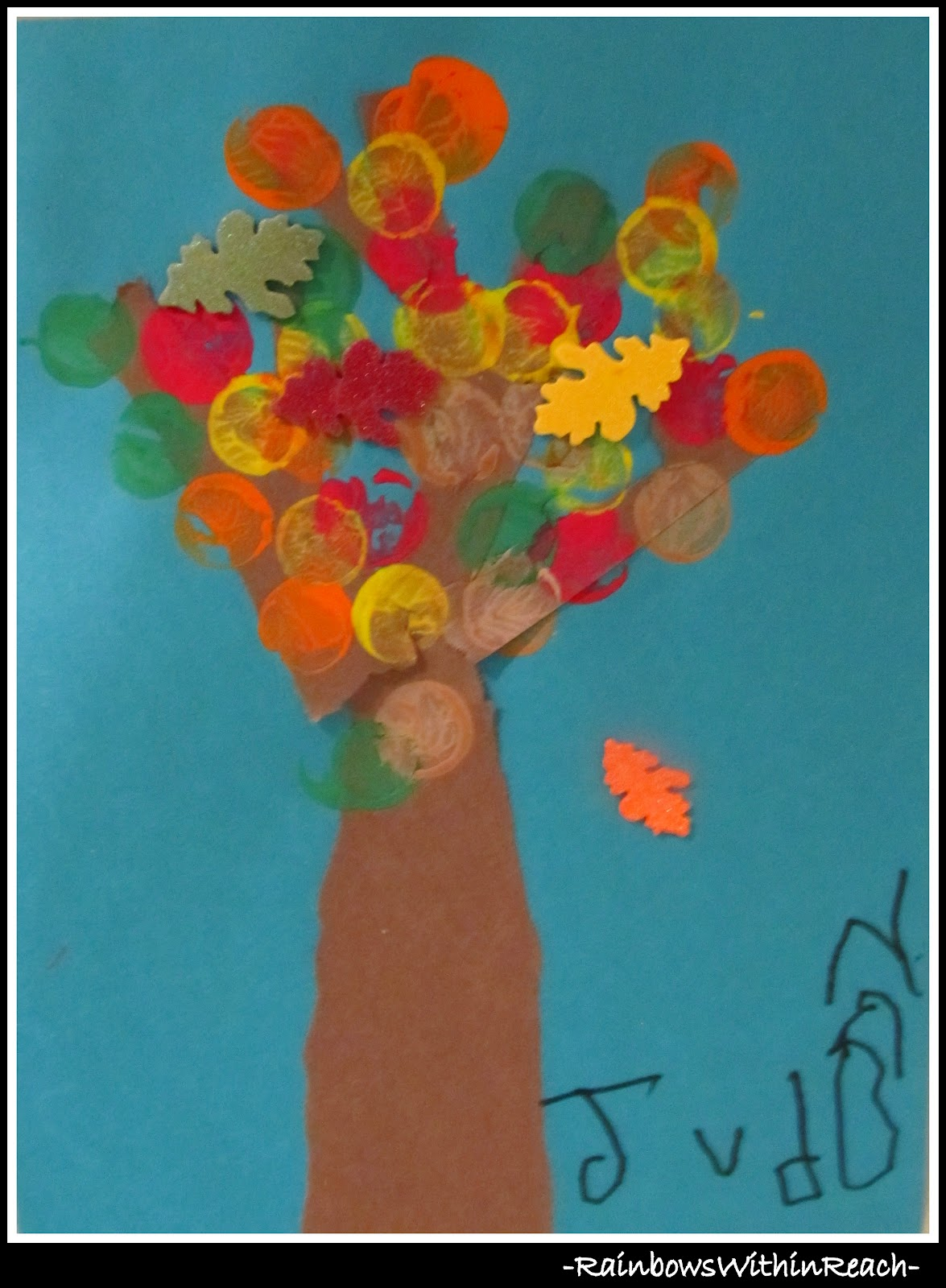 Fall Leaf Art Project In Preschool Drseussprojects