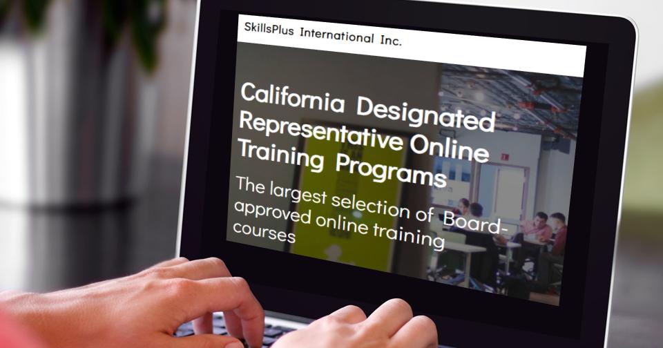 California Designated Representative Training Courses cover image