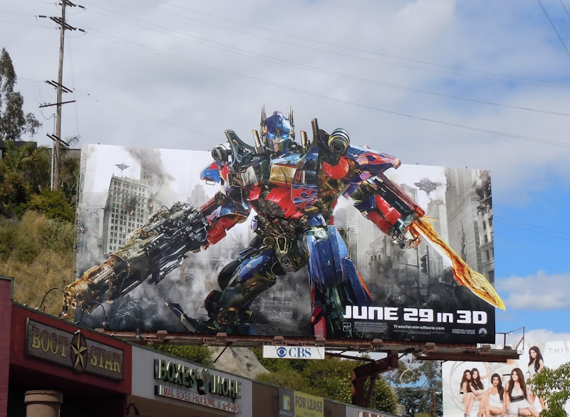 Transformers 3 Optimus Prime billboard