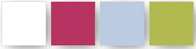 palette de couleurs Stampin' Up! utilisées