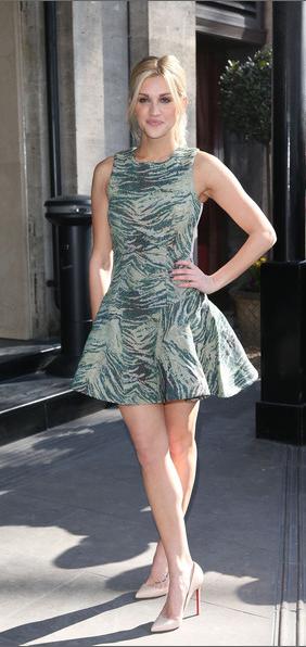 ASOS, Ashley Roberts, Tric Awards, Antipodium, Skater, Animal Print, Dress, Green