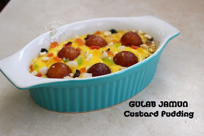gulab jamun custard pudding caramel custard easy simple pudding