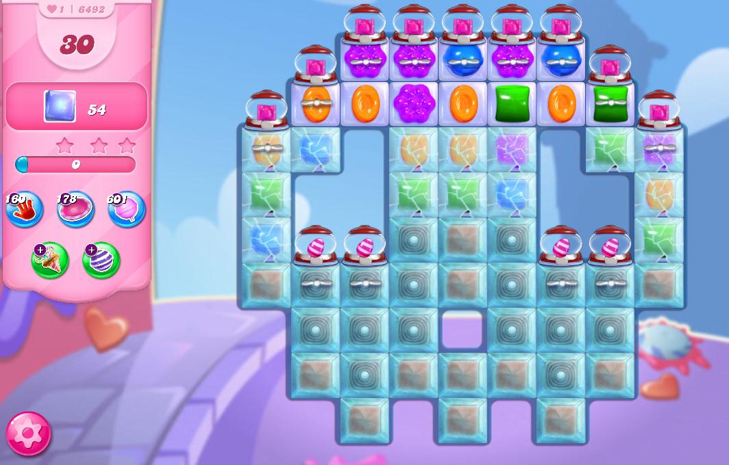 Candy Crush Saga level 6492