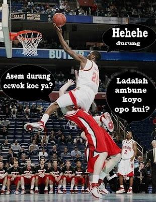 foto lucu saat basket
