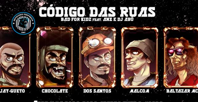 O grupo Bad For Kidz lança o som 'Código das Ruas' com part. de ANX & Dj Abú
