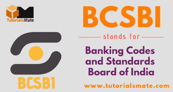BCSBI Full Form