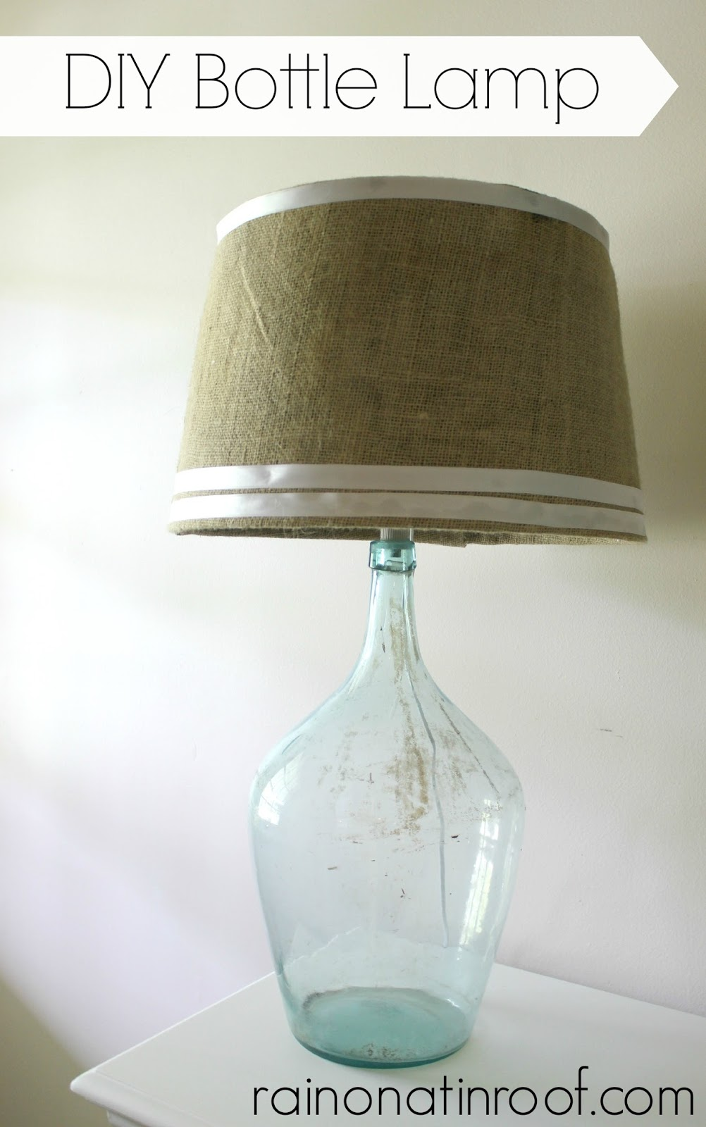 How to Make a Lamp Out of a Bottle (Psst - It's easy!)