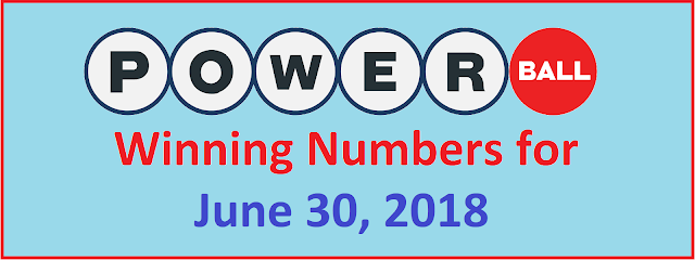 PowerBall Winning Numbers for Saturday, 30 June2018