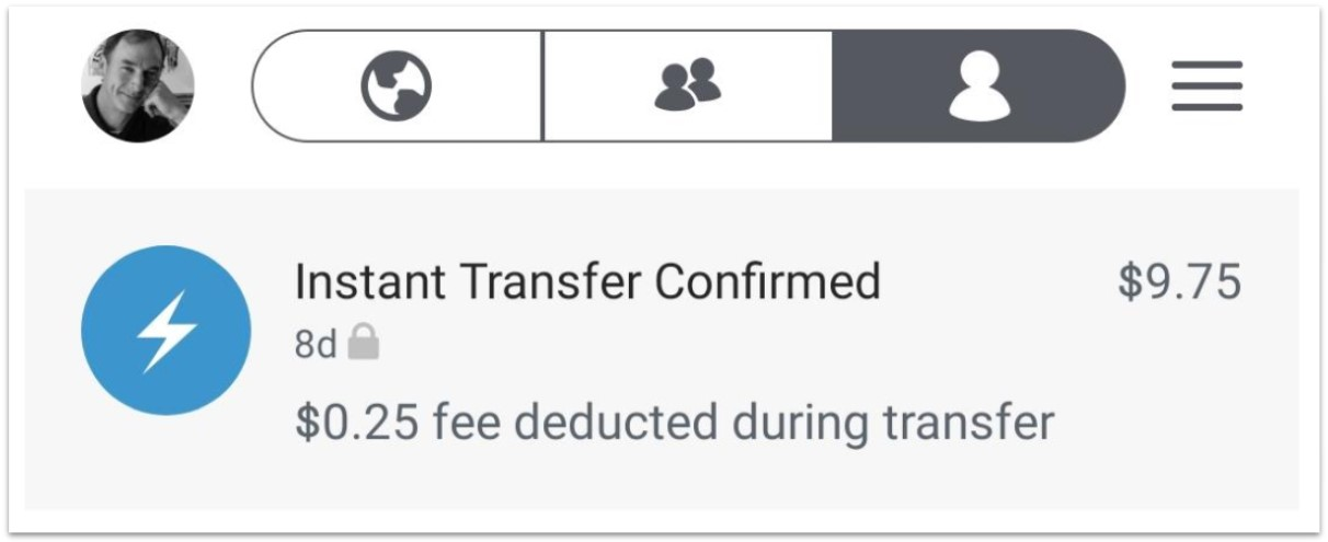 Venmo Instant Transfer Confirmation