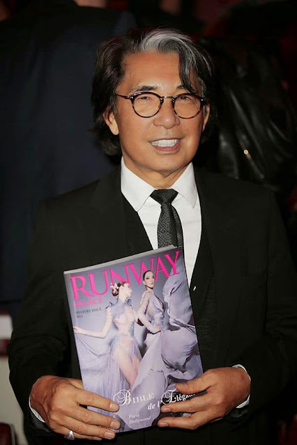 Kenzo Takada support to RUNWAY MAGAZINE
