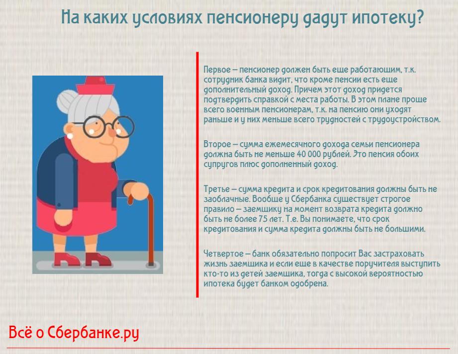 Сбербанк кредит работающим пенсионерам