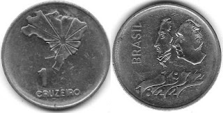 1 Cruzeiro  (150th Anniversary of the Independence of Brazil)
