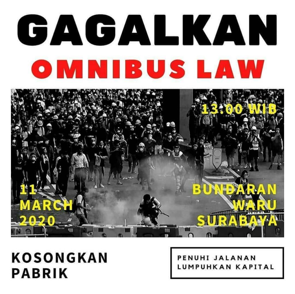 Massa Aksi Gagalkan Omnibus Law Membludak, Media Mainstream Tutup Mata?