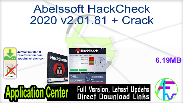 Abelssoft HackCheck 2020 v2.01.81 + Crack