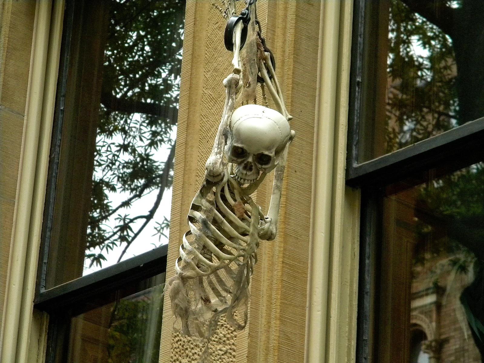 Halloween Decorations Manacled Hanging Skeleton Public ...