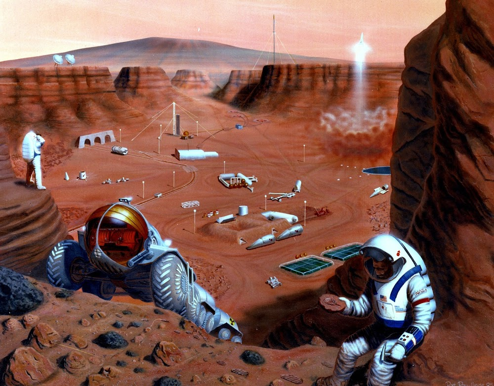 NASA's base on Mars by Pat Rawlings (1985)