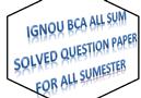 IGNOU BCA Study Materials/Question Paper/Notes