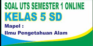 Soal UTS IPA Online Kelas 1 SD Semester 1 ( Ganjil ) dan Kunci Jawaban - Langsung Ada Nilainya