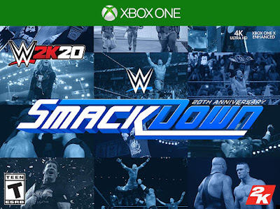 Wwe 2k20 Game Cover Xbox One Smackdown 20th Anniversary Edition