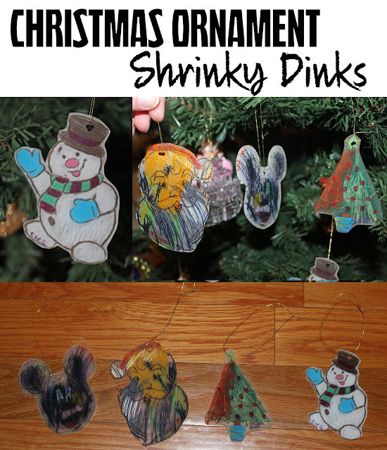 shrinky dink, Christmas ornament, DIY, DIY Christmas ornament, Christmas ornament shrinky dink, kids craft, kids Christmas ornament, kid activity,