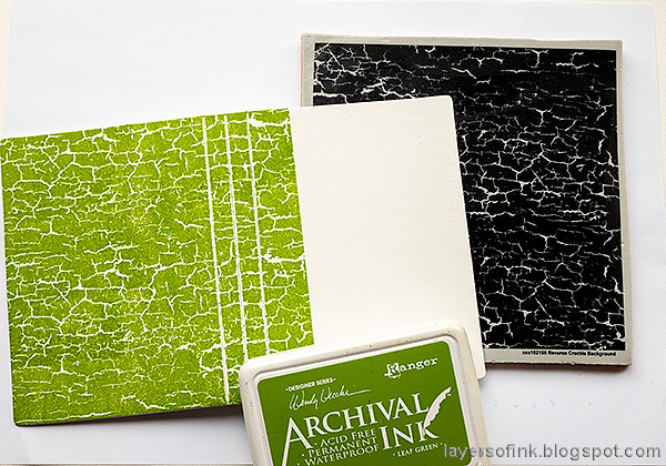 Layers of ink -  Outdoor Sketch Book Tutorial by Anna-Karin Evaldsson. Stamp with Simon Says Stamp Reverse Crackle Background.