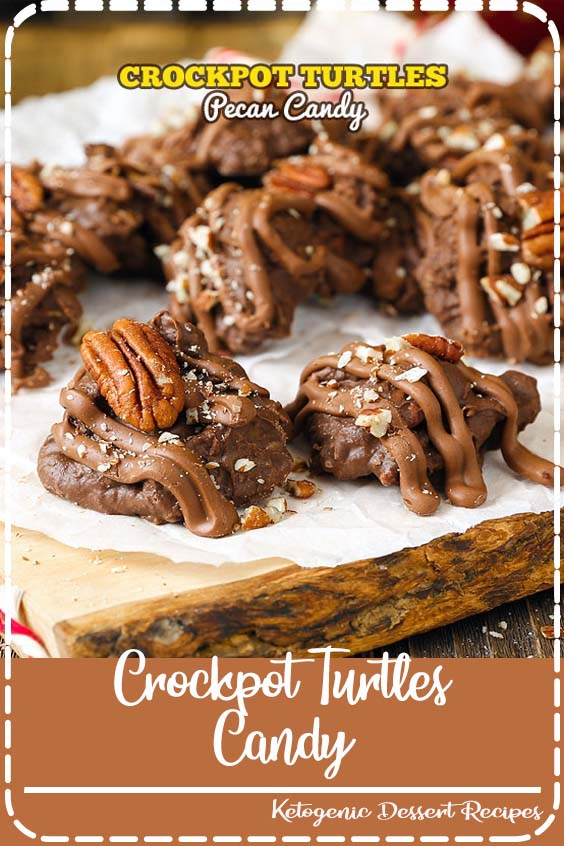 Crockpot Turtles Candy is an incredibly scrumptious treat Crockpot Turtles Candy