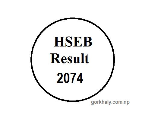 HSEB Result of grade 12