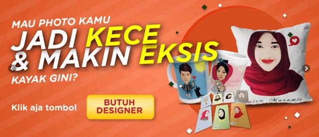 Jasa harga cetak print bantal foto gambar custom Puncak Jaya nama tulisan sendiri satuan