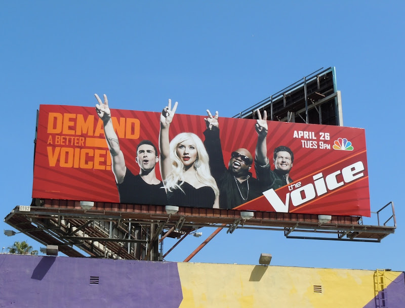 Christina Aguilera The Voice billboard