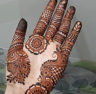 Back mehndi design pics and photos