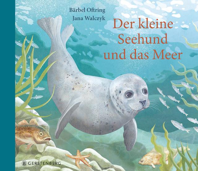 """Neue Geschichten vom Meer. Das Bilderbuch """"Der kleine Seehund und das Meer"""" erzählt mit vielen Bildern eine süße Geschichte für kleine Kinder ab 4 Jahren."""