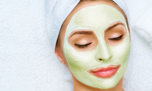 Mascarilla de arcilla verde para el acné