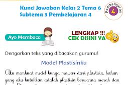 LENGKAP !!! Kunci Jawaban Tematik Kelas 2 Tema 6 Subtema 3 Pembelajaran 4