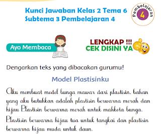 Kunci Jawaban Tematik Kelas 2 Tema 6 Subtema 3 Pembelajaran 4 www.simplenews.me